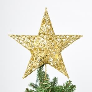 Glitter ijzer ster kerstboom Top decoratie Ornament  grootte: 25 cm x 20 cm  willekeurige kleur levering