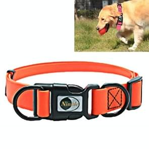 PVC Material Waterproof Adjustable Dual Loop Pet Dogs Collar, Suitable for Ferocious Dogs, Size: XS, Collar Size: 20-32 cm (Orange)