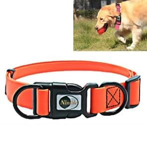PVC Material Waterproof Adjustable Dual Loop Pet Dogs Collar, Suitable for Ferocious Dogs, Size: S, Collar Size: 24-36 cm (Orange)