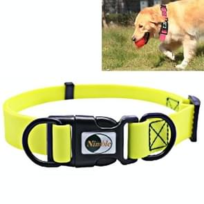 PVC Material Waterproof Adjustable Dual Loop Pet Dogs Collar, Suitable for Ferocious Dogs, Size: S, Collar Size: 24-36 cm (Yellow)