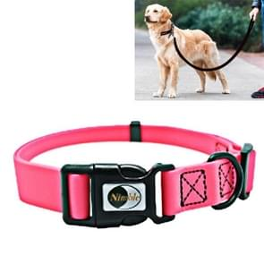 PVC Material Waterproof Adjustable Single Loop Pet Dogs Collar, Suitable for Docile Dogs, Size: XS, Collar Size: 20-32 cm(Pink)