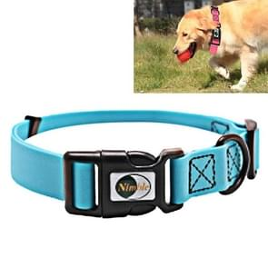 PVC Material Waterproof Adjustable Single Loop Pet Dogs Collar, Suitable for Docile Dogs, Size: M, Collar Size: 30-47 cm (Blue)
