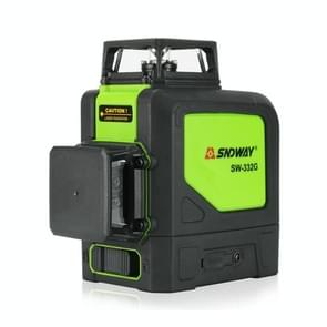 SNDWAY SW-332G Laser Level Covering Walls and Floors 8 Line Green Beam IP54 Water / Dust-proof(Green)
