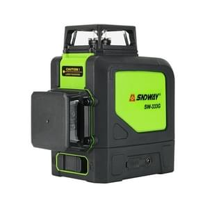 SNDWAY SW-333G Laser Level Covering Walls and Floors 12 Line Green Beam IP54 Water / Dust-proof(Green)
