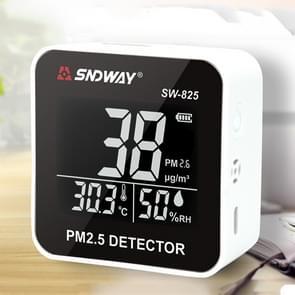 SNDWAY SW-825 micro USB opladen Desktop luchtkwaliteit real-time reiniging detector met HiD LED scherm  ondersteuning alarm prompt
