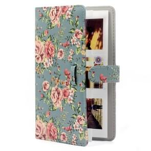 Rose Pattern 3 inch DIY PU Mini Creativity Insert Type 32 Pages Exquisite Photo Album for Polaroid