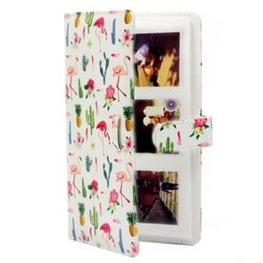 Flamingo Cactus Pattern 3 inch DIY PU Mini Creativity Insert Type 32 Pages Exquisite Photo Album for Polaroid