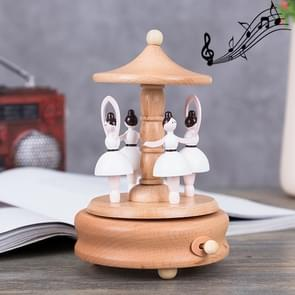 Dance Angel Shape Home Decor Originality  Wooden Musical  Boxes