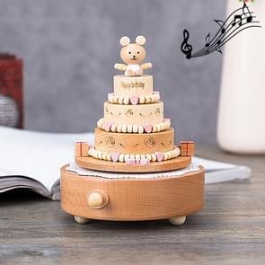 Birthday Cake Shape Home Decor Originality  Wooden Musical  Boxes
