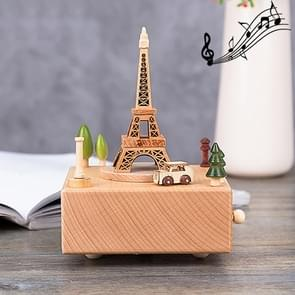 Eiffel Tower Shape Home Decor Originality  Wooden Musical  Boxes