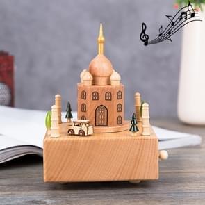 Taj Mahal Shape Home Decor Originality  Wooden Musical  Boxes