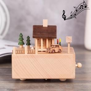 Chalet Shape Home Decor Originality  Wooden Musical  Boxes