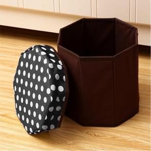 Huishouden multifunctionele opklapbare zitplaatsen opslag Stool(Black)