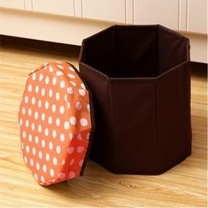 Huishouden multifunctionele opklapbare zitplaatsen opslag Stool(Orange)