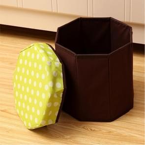 Huishouden multifunctionele opklapbare zitplaatsen opslag Stool(Green)