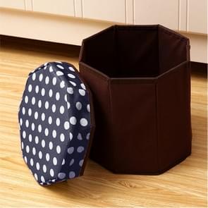 Huishouden multifunctionele opklapbare zitplaatsen opslag kruk (marineblauw)