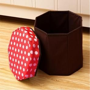 Huishouden multifunctionele opklapbare zitplaatsen opslag Stool(Red)