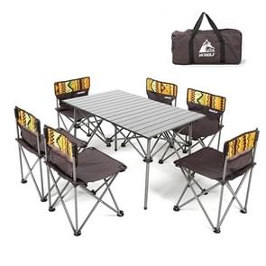 7 in 1 Hewolf HW-J1898 Outdoor draagbare opvouwbare tafel stoel set