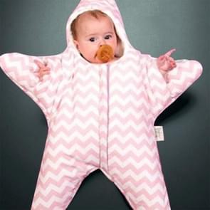 Schattig Starfish stijl Baby slapen kleding tas voor 0-6 maand Baby  maat: 85yard(Pink)