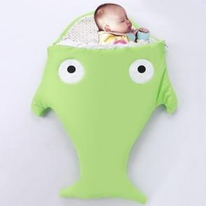 Schattig Shark Style Baby slapen kleding tas voor 0-6 maand Baby  maat: 85 werf (groen)