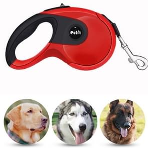 Pet Dogs High Quality Automatic Telescopic Rope ABS Rubber Non-slip Safety Chain Rope, Rope Length: 3m (Red)