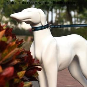 Pet Dogs Polyester Reflective Breathable Pets Collar Traction Lead Leash, Size: M, 2.5*42*47cm (Blue)