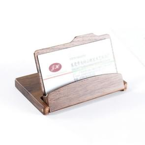 Business Wooden Walnut Card Holder Flip Credit Card ID Case Holder