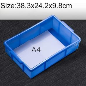 Thick Multi-function Material Box Brand New Flat Plastic Parts Box Tool Box, Size: 38.3cm x 24.2cm x 9.8cm(Blue)