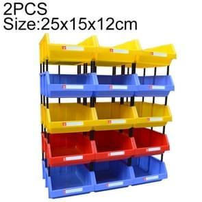 2 PCS Thickened Oblique Plastic Box Combined Parts Box Material Box, Random Color Delivery, Size: 25cm x 15cm x 12cm