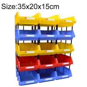 Thickened Oblique Plastic Box Combined Parts Box Material Box, Random Color Delivery, Size: 35cm x 20cm x 15cm