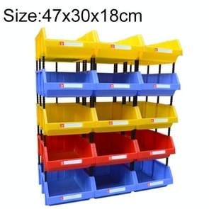 Thickened Oblique Plastic Box Combined Parts Box Material Box, Random Color Delivery, Size: 47cm x 30cm x 18cm