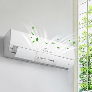 Adjustable Baby Pregnant Woman Air Deflector Shroud Bedroom Wall-Mounted Anti-Straight Blowing Air Conditioning Windshield(White)