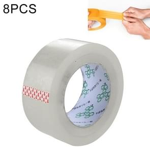 8 PCS 45mm Width 25mm Thickness Package Sealing Packing Tape Roll Sticker(Clear White)