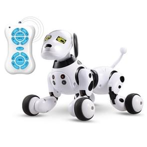 Intelligent Sensing Robot Dog Pet Toy Early Education for Parent-Child Interactive(Black White)