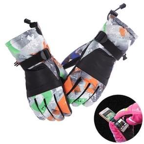 Beschermende Unisex skiën berijden van Winter Outdoor sporten touchscreen Spatwaterdichte winddicht warme handschoenen  maat verdikt: M