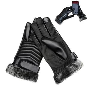 Beschermende paardrijden Winter Outdoor sporten touchscreen verdikt Spatwaterdichte winddicht Warm Polyester handschoenen voor mannen