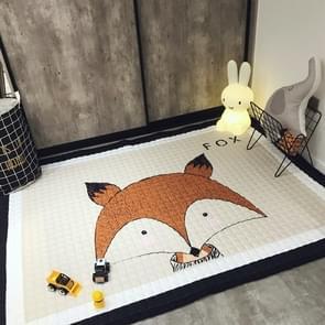 Fox Pattern Rectangular Polyester Anti-skid Household Carpet Yoga Mat, Size: 195cm x 145cm