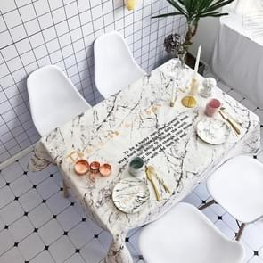 White Marble Pattern Waterproof Anti-scalding Rectangle Cotton and Linen Table Cloth, Size: 180 x 140cm
