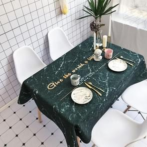 Black Marble Pattern Waterproof Anti-scalding Rectangle Cotton and Linen Table Cloth, Size: 180 x 140cm