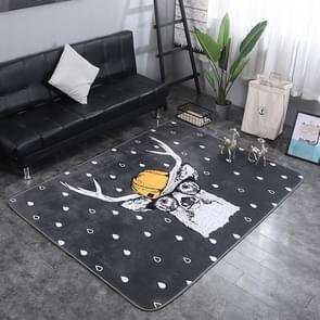 Mr. Deer Pattern Rectangular Polyester Anti-skid Household Carpet Yoga Mat, Size: 200cm x 150cm
