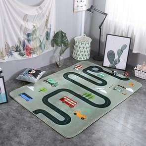 Car Track Pattern Rectangular Polyester Anti-skid Household Carpet Yoga Mat, Size: 200cm x 150cm