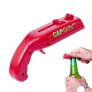 Creative Beer Bottle Opener Cap Catapult Kitchen Bar Tool(Red)