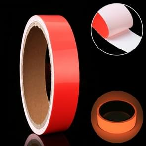 Luminous Tape Green Glow In Dark Wall Sticker Luminous Photoluminescent Tape Stage Home Decoration, Size: 1cm x 3m (Red Light)
