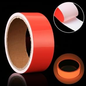 Luminous Tape Green Glow In Dark Wall Sticker Luminous Photoluminescent Tape Stage Home Decoration  Size: 4cm x 3m (Red Light)