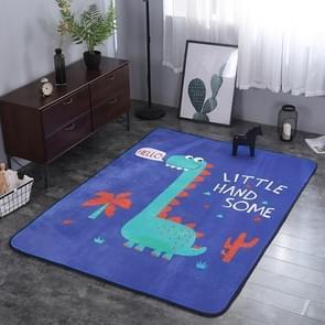 Dinosaur Pattern Rectangular Polyester Anti-skid Household Carpet Yoga Mat, Size: 200cm x 150cm