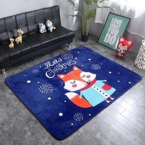 Fox Pattern Rectangular Polyester Anti-skid Household Carpet Yoga Mat, Size: 200cm x 150cm