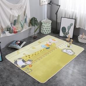 Stacking Height Pattern Rectangular Polyester Anti-skid Household Carpet Yoga Mat, Size: 200cm x 150cm
