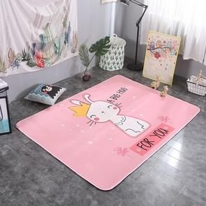 Crown Rabbit Pattern Rectangular Polyester Anti-skid Household Carpet Yoga Mat, Size: 200cm x 150cm