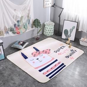 Proud Rabbit Pattern Rectangular Polyester Anti-skid Household Carpet Yoga Mat, Size: 200cm x 150cm
