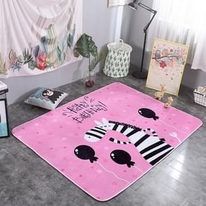 Cute Zebra Pattern Rectangular Polyester Anti-skid Household Carpet Yoga Mat, Size: 200cm x 150cm